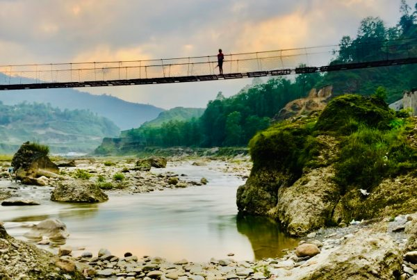 Swing bridge Pokhara Nepal
