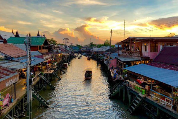 floating market near Bangkok, Amphawa Thailand