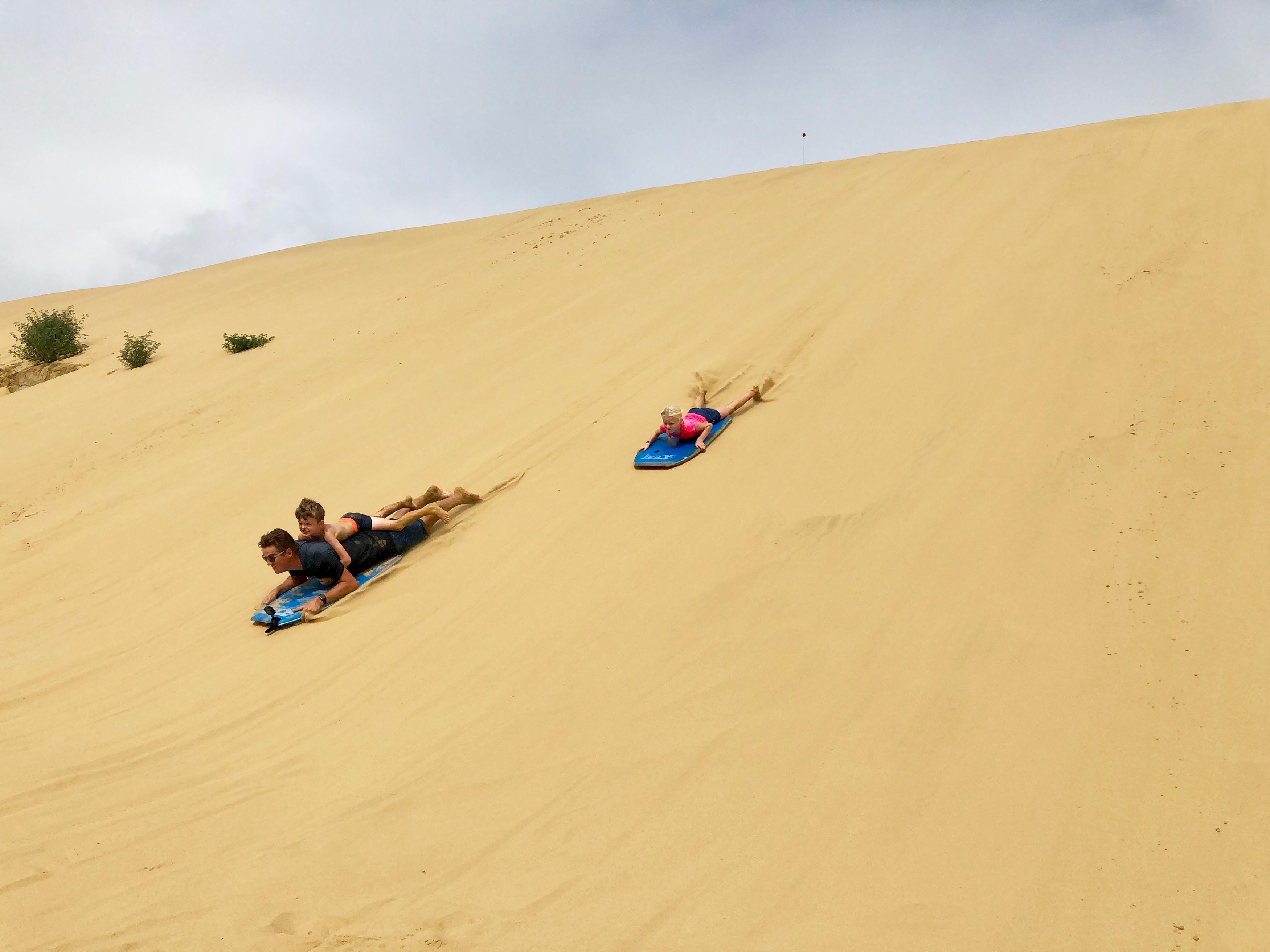 Sandboarding.